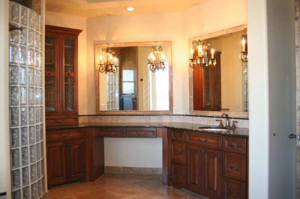 Bathroom Remodels dark wood