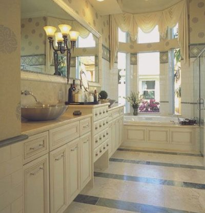 White Themed Bathroom Remodels by Stradlings Cabinets 3