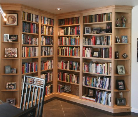 Entertainment Room Bookshelf Remodels by Stradlings Cabinets