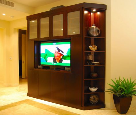 Entertainment Room Remodel in Gilbert Arizona by Stradlings Cabinets