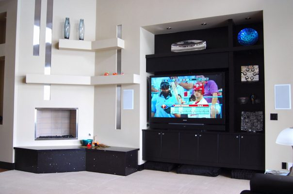 Entertainment Room Remodel in Phoenix Arizona by Stradlings Cabinets