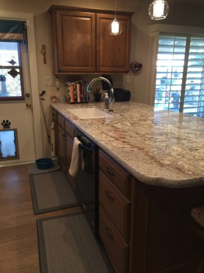 Kitchen Cabinets with Granite Countertop by Stradlings Cabinets