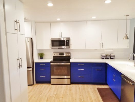 Kitchen White Themed Remodel by Stradlings Cabinets