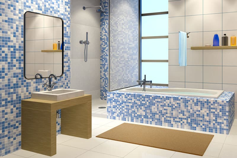 bathroom remodeling mistakes, tiny mosaic tiles, Stradling's Cabinets & Remodeling, Mesa, AZ