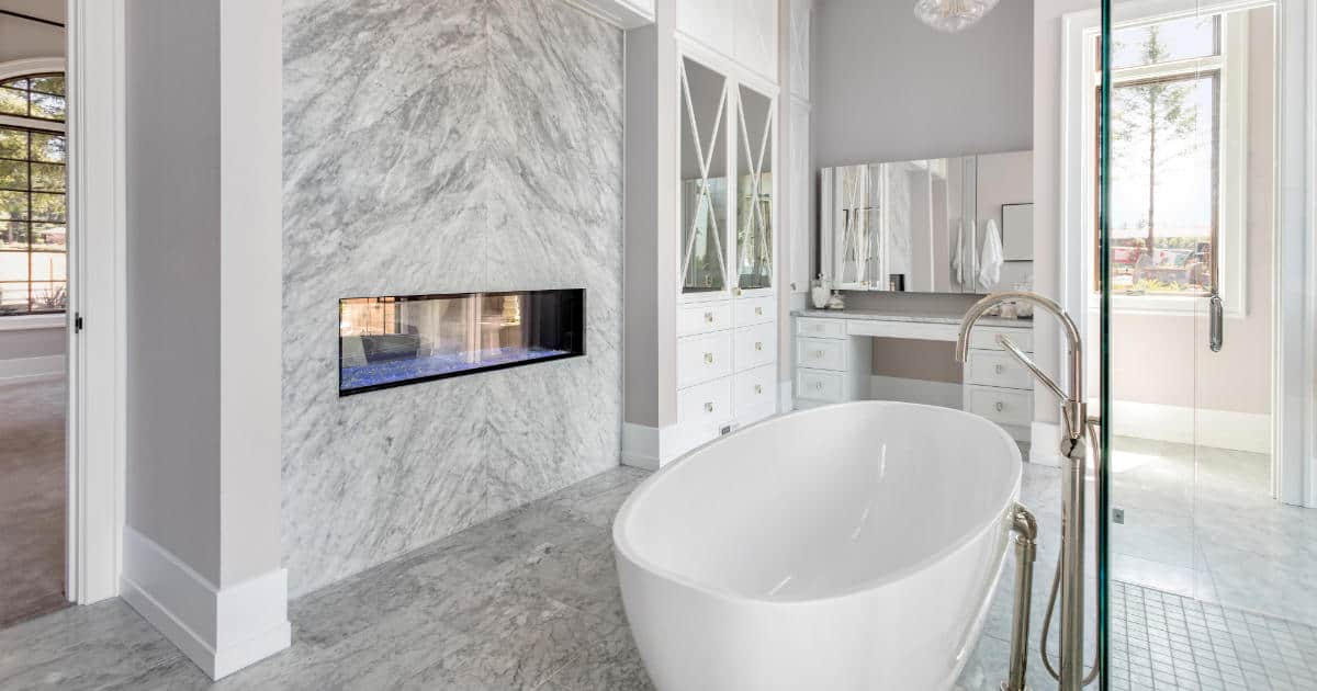 Newly remodeled modern bathroom